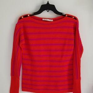 Trina Turk wool sweater pink and orange XS